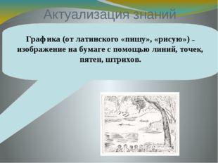 Актуализация знаний Графика (от латинского «пишу», «рисую») – изображение на