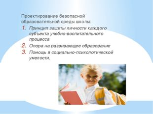 Проектирование безопасной образовательной среды школы: Принцип защиты личнос