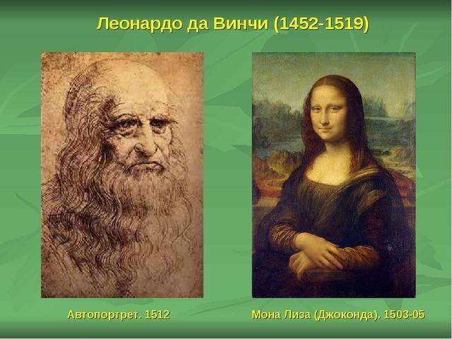 Леонардо да Винчи (1452-1519) Мона Лиза (Джоконда). 1503-05 Автопортрет. 1512