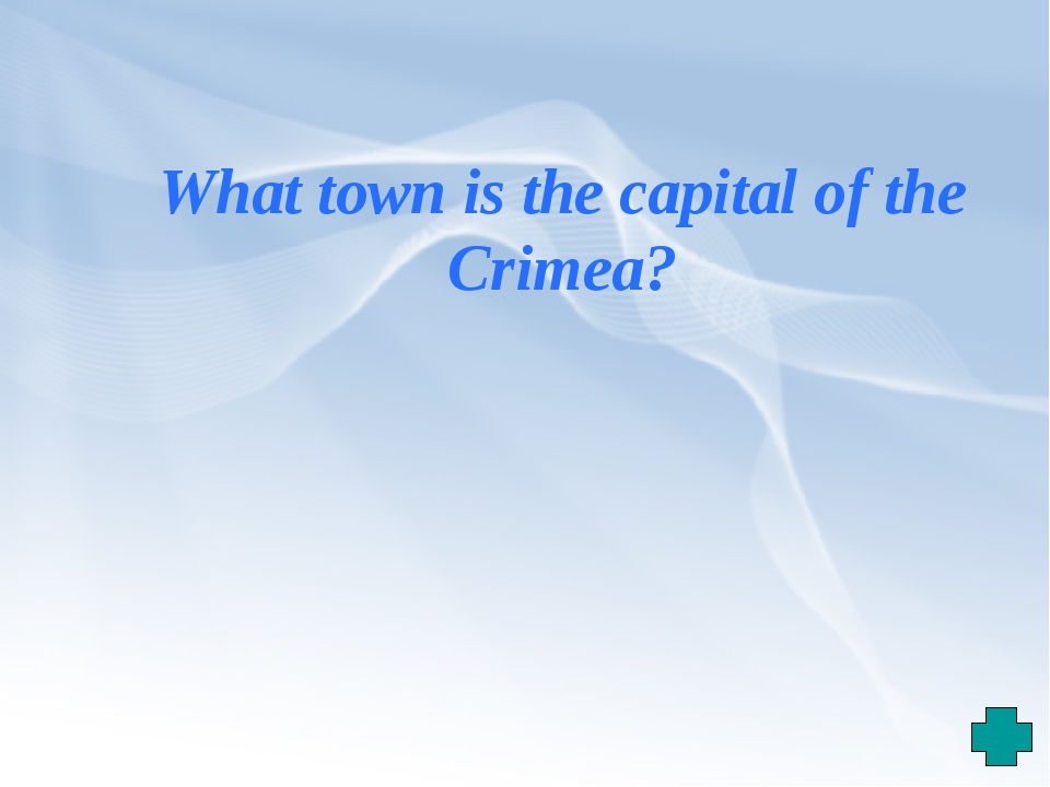 What town is the capital of the Crimea?