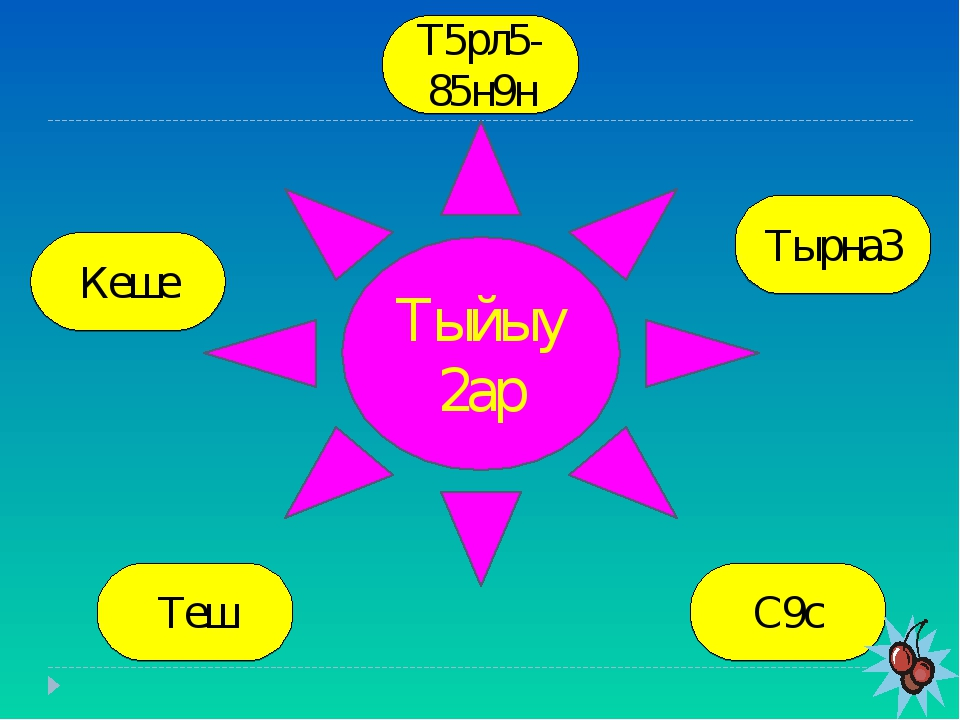 Тыйыу2ар Т5рл5- 85н9н Кеше Тырна3 Теш С9с