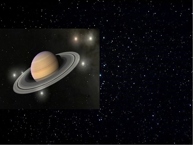 Планета Сатурн – шестая планета от Солнцаи вторая по величине в Солнечной с...