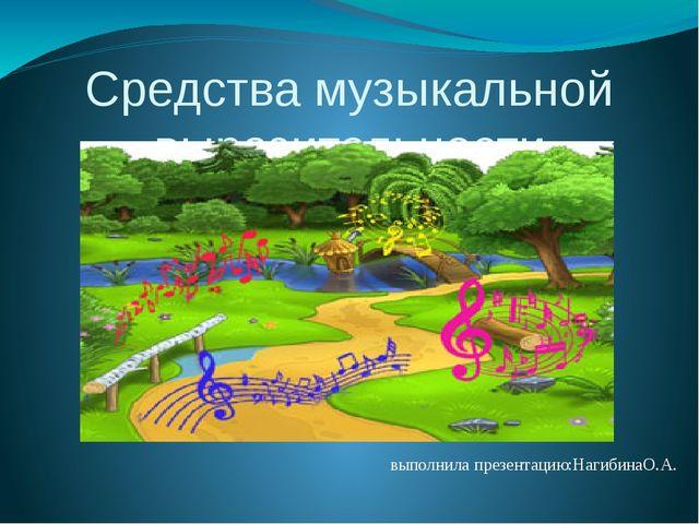 Средства музыкальной выразительности выполнила презентацию:НагибинаО.А.
