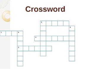 Crossword 1. 6. 2. 5. 3. 4.