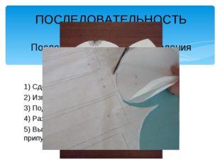 ПОСЛЕДОВАТЕЛЬНОСТЬ РАБОТЫ Последовательность изготовления туловища куклы 1) С