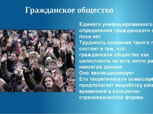 Гражданское общество Единого унифицированного определения гражданского общест