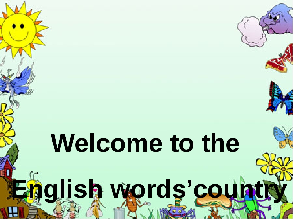 Welcome to the English words'country