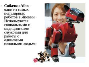 Собачки Aibo – одни из самых популярных роботов в Японии. Используются социал