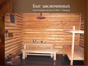 Быт заключенных (экспозиция музея БАМа г. Тынды)