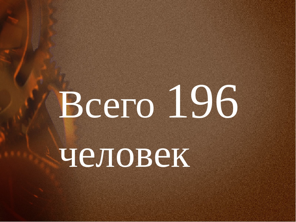 Всего 196 человек