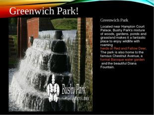Greenwich Park Located near Hampton Court Palace, Bushy Park's mixture of woo