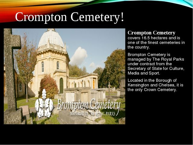 Crompton Cemetery covers 16.5 hectares and is one of the finest cemeteries in...