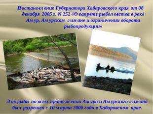 Постановление Губернатора Хабаровского края от 08 декабря 2005 г. N 252 «О за