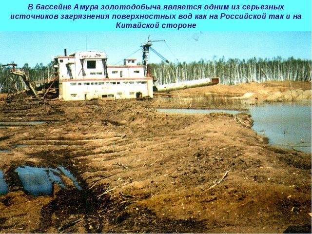 В бассейне Амура золотодобыча является одним из серьезных источников загрязне...
