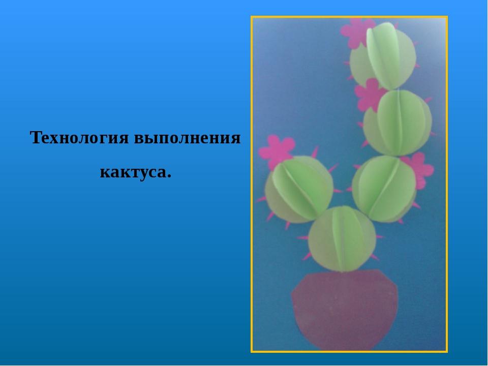 Технология выполнения кактуса.