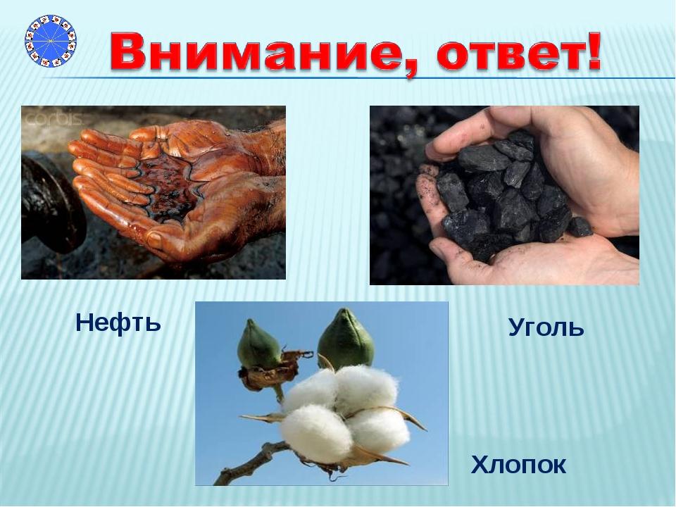 Уголь Нефть Хлопок