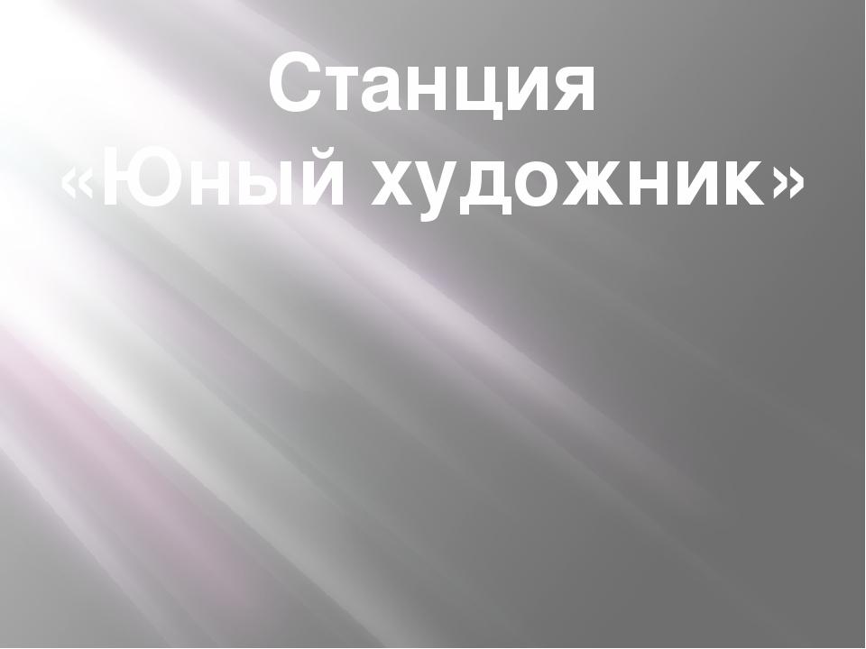 Станция «Юный художник»