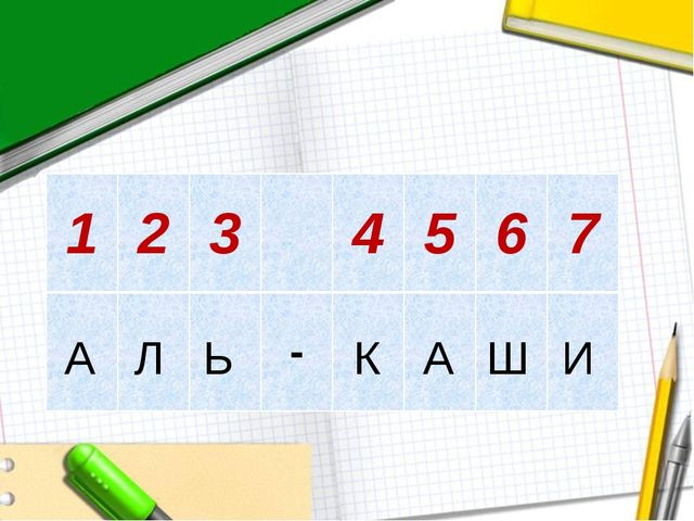 А Л Ь К А Ш И 1234567 -