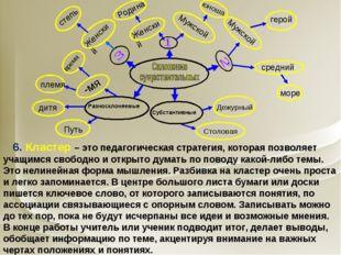 6. Кластер – это педагогическая стратегия, которая позволяет учащимся свобод