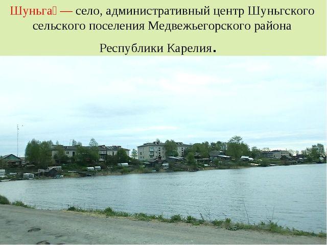 Шуньга́ — село, административный центр Шуньгского сельского поселения Медвеж...