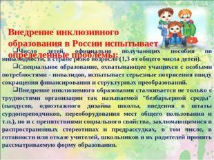 Внедрение инклюзивного образования в России испытывает определенные проблемы: