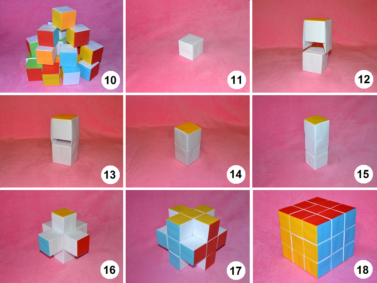 Японский кубик-рубик из бумаги своими руками