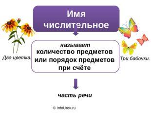 © InfoUrok.ru Имя числительное часть речи называет количество предметов или