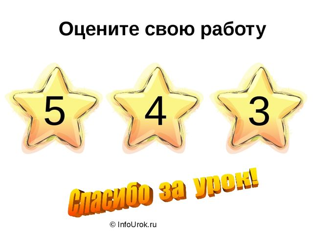 © InfoUrok.ru Оцените свою работу 5 4 3