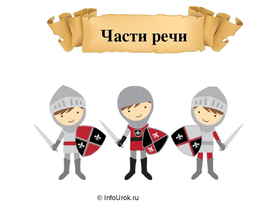 © InfoUrok.ru Части речи
