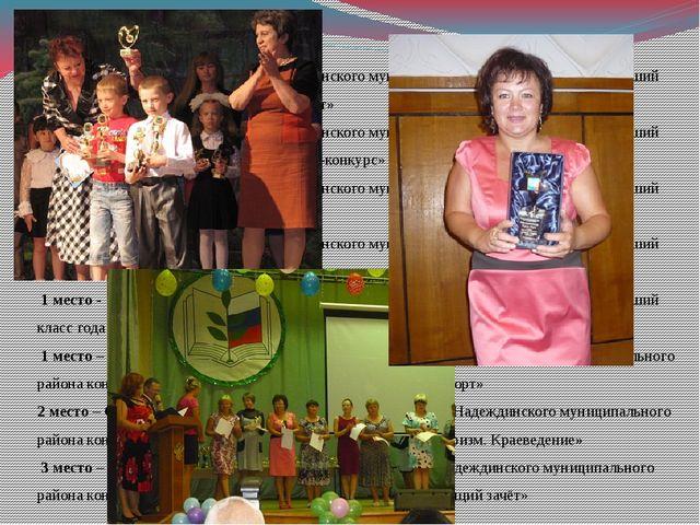 1 место - кубок Администрации Надеждинского муниципального района конкурса «Л...