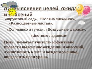 АМ выяснения целей, ожиданий и опасений «Фруктовый сад», «Поляна снежинок», «