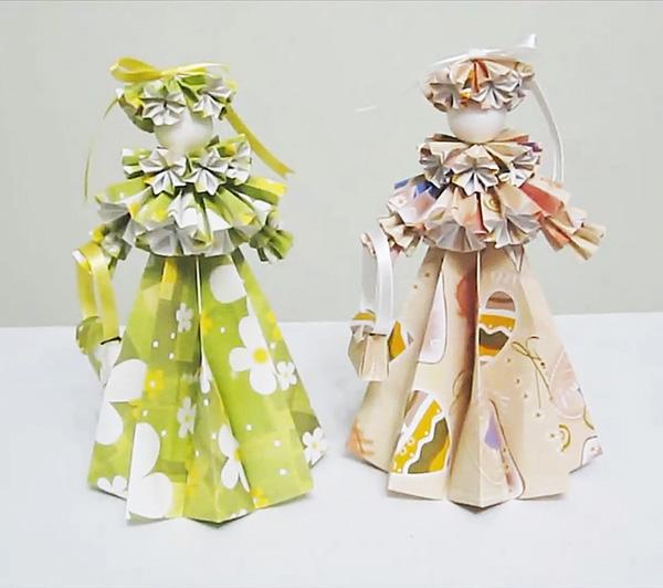 Куклы времена года своими руками из бумаги