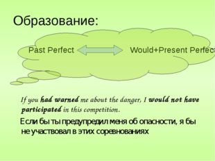Образование: Past Perfect Would+Present Perfect If you had warned me about th