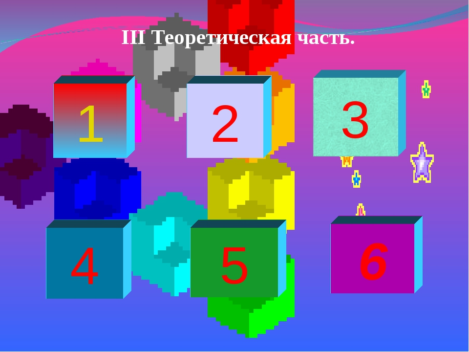 1 2 4 5 6 III Теоретическая часть.