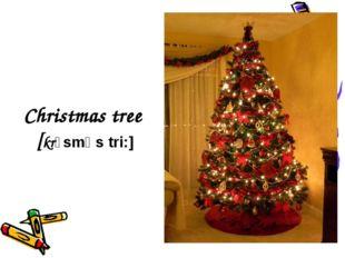 Christmas tree [krɪsmǝs tri:]