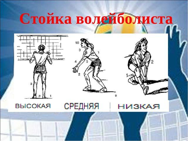 Стойка волейболиста