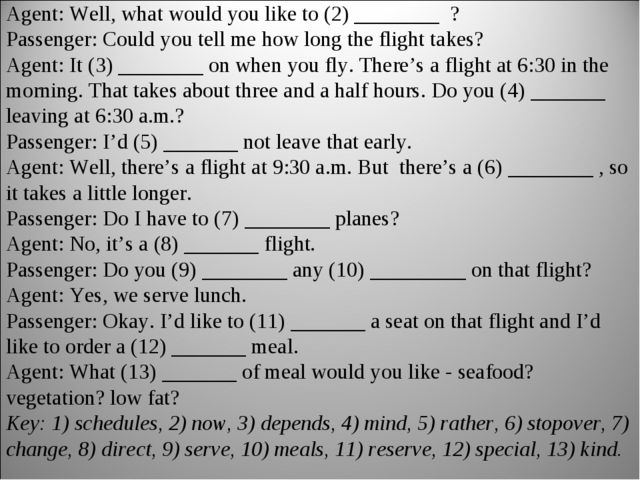 Agent: Pacific Airways. May I help you? Passenger: Yes. I'd like some informa...
