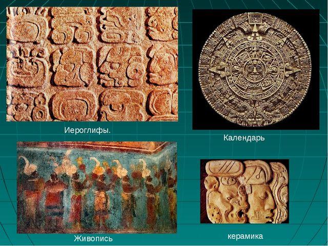 Иероглифы. Календарь Живопись керамика