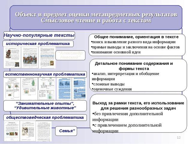 * Общее понимание, ориентация в тексте поиск и выявление разного вида информа...