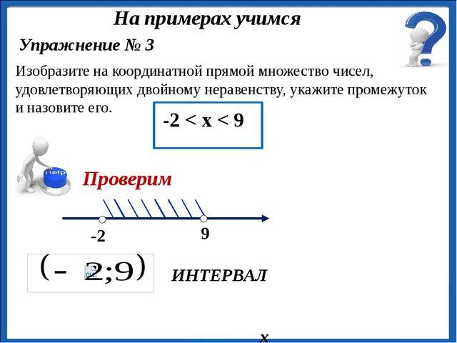 х ИНТЕРВАЛ Изобразите на координатной прямой множество чисел, удовлетворяющи...