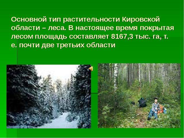 Основной тип растительности Кировской области – леса. В настоящее время покр...