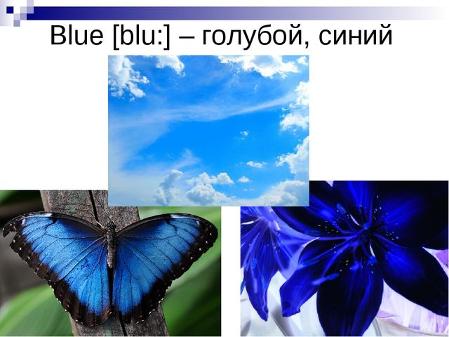 Blue [blu:] – голубой, синий