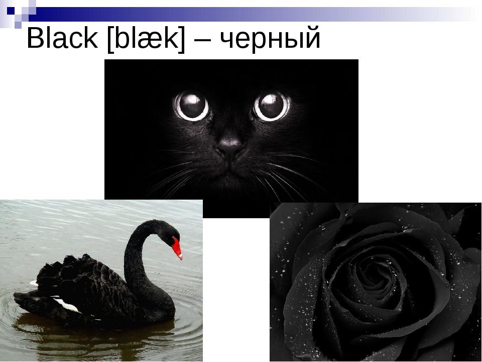 Black [blæk] – черный