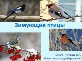 Автор: Птичкина. Н.А. Воспитатель средней группы№2