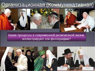 Организационная (Коммуникативная) Какие процессы в современной религиозной жи