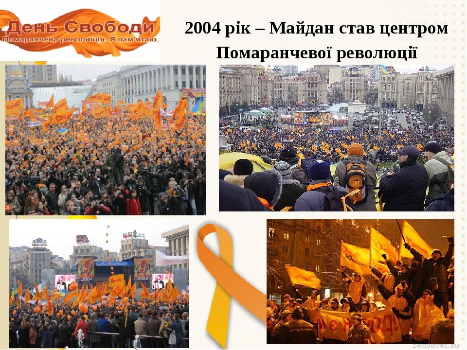 2004 рік – Майдан став центром Помаранчевої революції