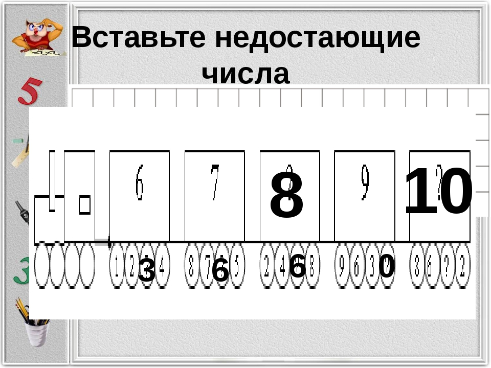 Вставьте недостающие числа 8 10 3 6 6 0