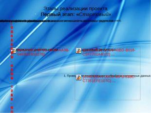 Этапы реализации проекта Первый этап: «Стартовый»