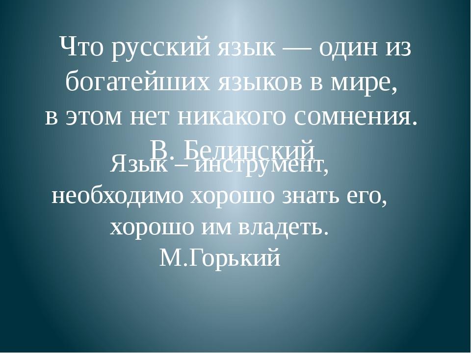 Что русский язык — один из богатейших языков в мире, в этом нет никакого сом...