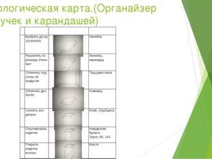 Технологическая карта.(Органайзер для ручек и карандашей) № Содержание операц